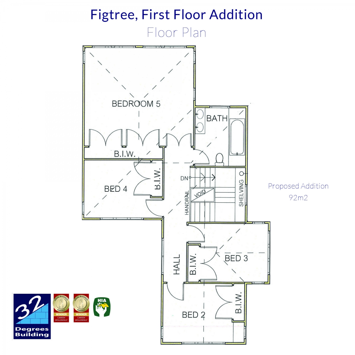 Floor Plan - First Floor Addition Figtree (1)