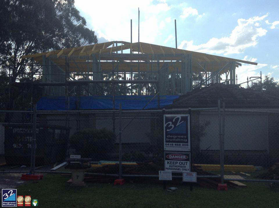 wall and roof frames first floor addition ingleburn 4