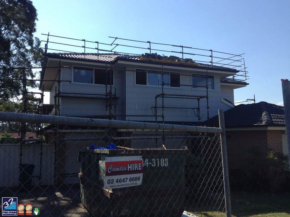 windows and cladding first floor addition ingleburn